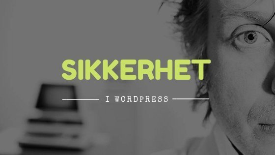 Sikker wordpress