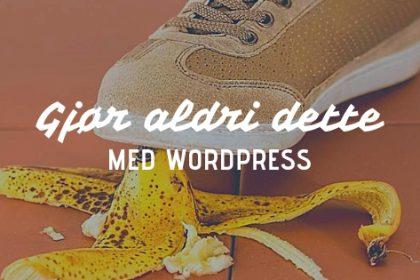 Ikke velge domeneshop wordpress