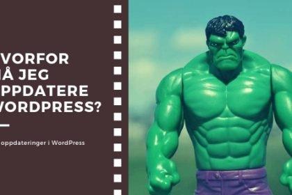 Hvorfor oppdatere WordPress