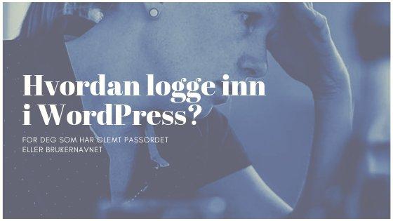 Hvordan logge inn WordPress
