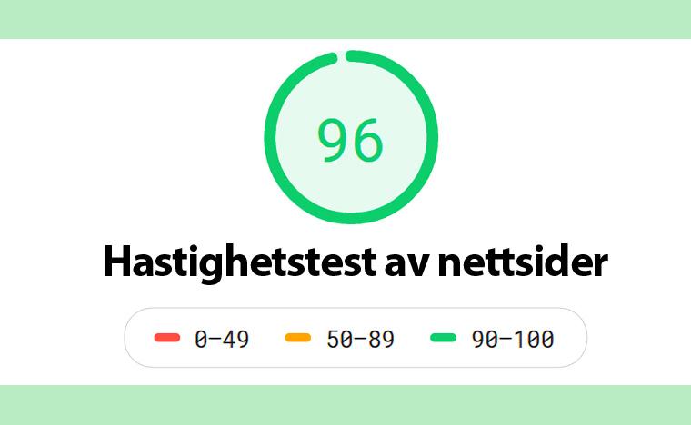 Hastighetstest av nettsider