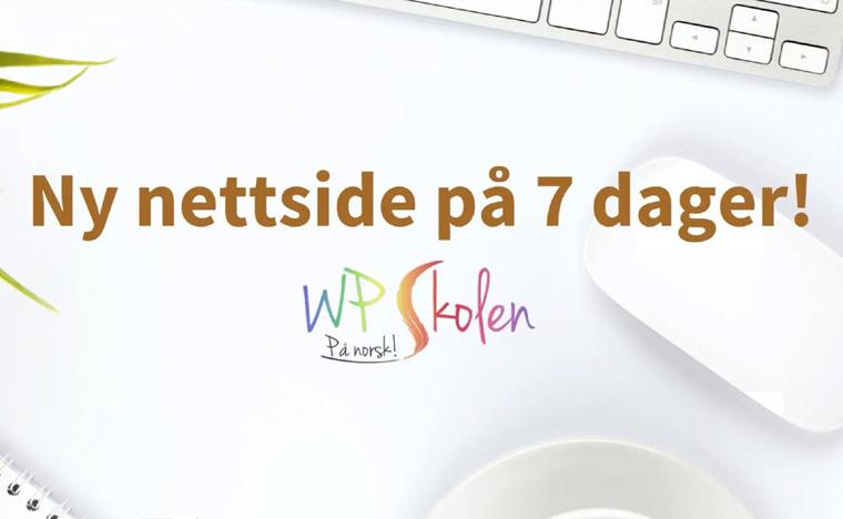 Ny nettside på 7 dager
